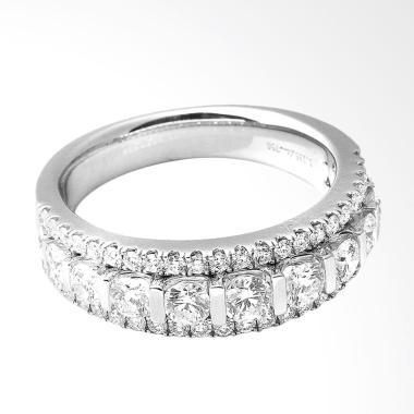 Lino P1611070011 18K VVS-T Cincin Berlian Emas Putih