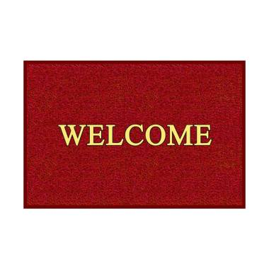 Rosanna Welcome Tebal Keset - Merah [60 x 40 cm]