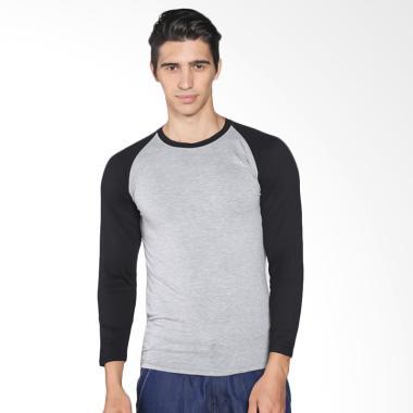 VM Polos Stretch Raglan T-Shirt - Abu Hitam