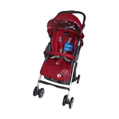 harga BabyElle 609 Ginza Baby Stroller - Knit Red Blibli.com