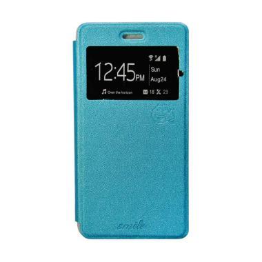 harga SMILE Flip Cover Casing for LG K4 - Biru Muda Blibli.com