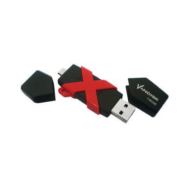 Vandisk V60N USB OTG Flashdisk - Hitam [16 GB]