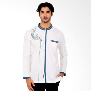 WAYDEE Adib Long Sleeves Baju Koko - White