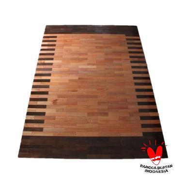 Abang Borneo Motif Wood Karpet [140 x 200 cm]