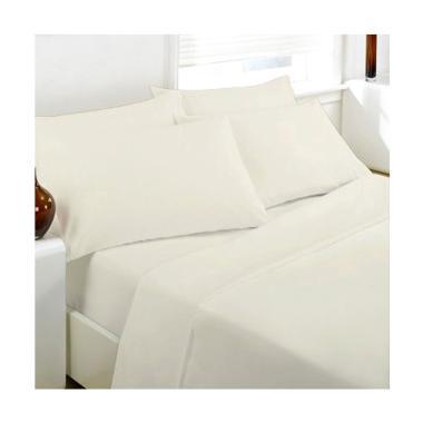 Ellenov Set Sprei dan Bedcover - Putih Polos