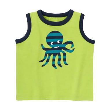 Gymboree Tank Top Stripe Octopus Baju Atasan Anak Laki-Laki - Hijau