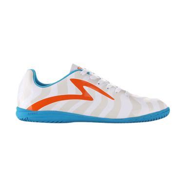 Specs Torpedo Sepatu Futsal - White Spirit Orange Rock Blue