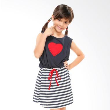 GatsuOne Greta Stripe Dress - Navy