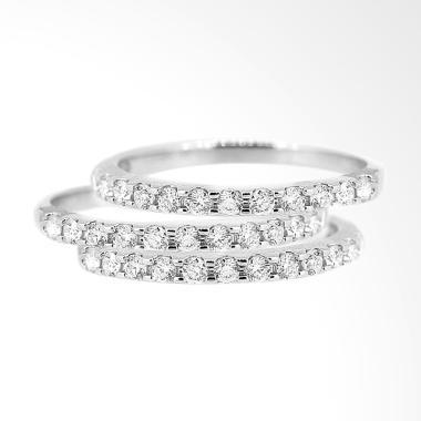 Lino P1606250010 18K VVS-T Cincin Berlian Emas Putih