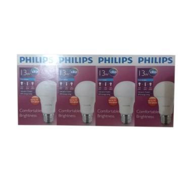PHILIPS Bohlam Lampu LED - Putih [13 W/ Beli 3 Gratis 1]