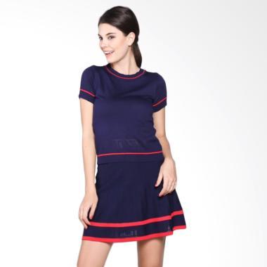 Safahaura Short Sleeves Dress - Navy