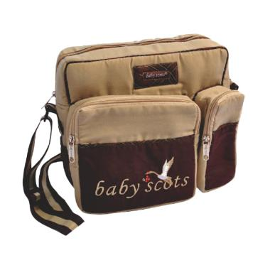 Baby Scots Diapers Bag - Brown