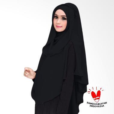 Milyarda Hijab Khimar Al Zaina Kerudung Instan Syar'i - Hitam