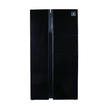 Samsung Side By Side Lemari ES - Hitam [591 L]
