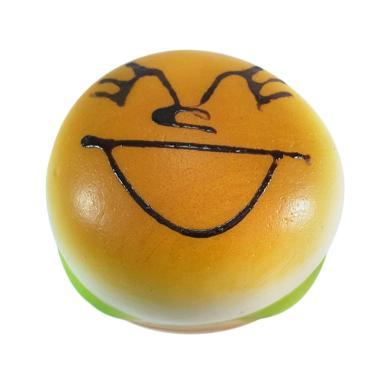 Chocobi Slime Jumbo Burger Emoticon Squishy Gantungan Kunci