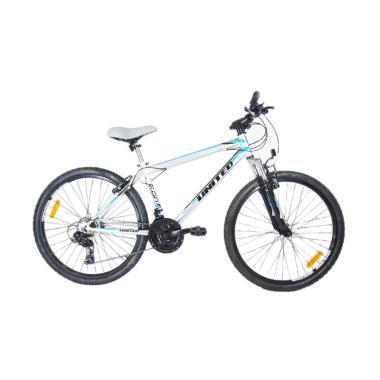 United Monanza 2.0 Sepeda MTB - Abu lis Hitam [26 Inch]