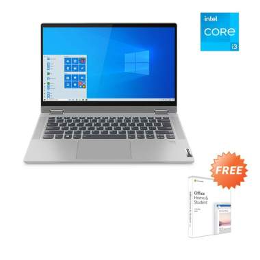 Lenovo Flex5 14ITL05 82HS002VID Notebook - Grey [i3-1115G4/ 8GB/ 512GB SSD/ UMA/ 14Inch FHD Touch/ Win10/ Office Home Student] --
