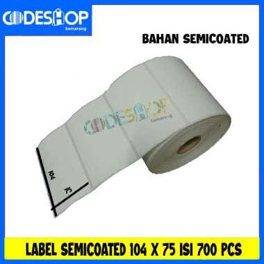 harga LABEL PRINTER BARCODE 104X75MM - 104X75 MM - 1 LINE SEMICOATED ISI 700 putih Blibli.com