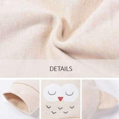 harga Newborn Baby Set - Perlengkapan Bayi Set Topi Sarung Tangan Sepatu Owl - 0-6 Bulan Beige Blibli.com