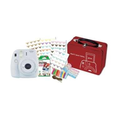 harga FUJISHOPID SERPONG - Fujifilm Instax Mini 9 Craft Package Kamera Polaroid WHITE Blibli.com