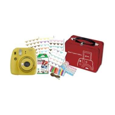 harga FUJISHOPID SERPONG - Fujifilm Instax Mini 9 Craft Package Kamera Polaroid YELLOW Blibli.com