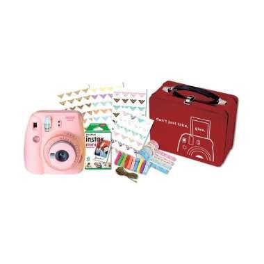 harga FUJISHOPID SERPONG - Fujifilm Instax Mini 9 Craft Package Kamera Polaroid PINK Blibli.com