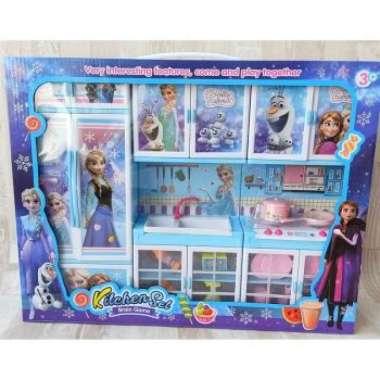 harga Gratis buble wrap Kitchen Set Frozenn Kulkas LS333-11 Mainan Masakan mainan anak terbaru Blibli.com