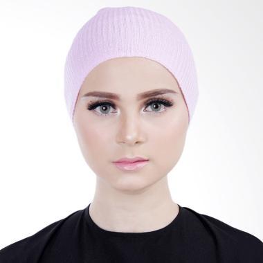 Cantik Kerudung Lizzie Inner Rajut Bandana - Purplish Pink