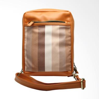 HUSK Lucky Accordion 2 in 1 Sling Bag & Mini Backpack - Coklat