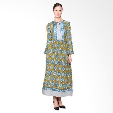 Batik Adikusuma RN Tenun Ikat 382125047 Woman Gamis Batik - Biru
