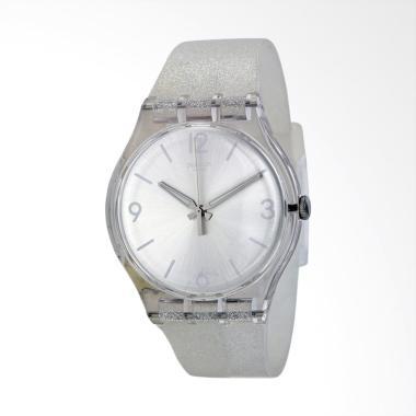 Swatch Mirrormellow SUOK112 Bahan Tali Silikon Jam Tangan Wanita - Silver d724ad5cb8