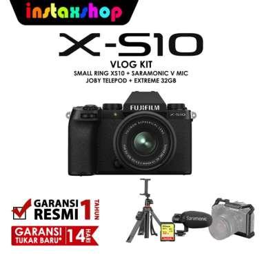 harga INSTAXSHOP Fujifilm X-S10 XS10 Kit 15-45mm Vlog Kit Limited edition Garansi Resmi Blibli.com