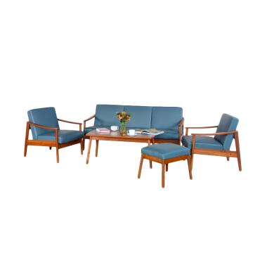 Oscar Furniture Turin Set Sofa - Cocoa Grey