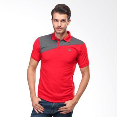 Sognoleather Basic Man Polo Shirt - Merah [smd529]