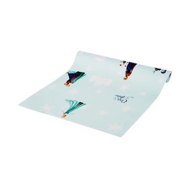 Luxurious LUX 5-77 PRB Elsa Frozen Wallpaper Sticker - Biru Muda