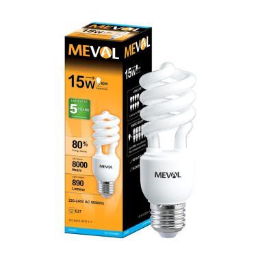 Meval CFL/LHE Spiral Lampu Bohlam - Putih [15 W]