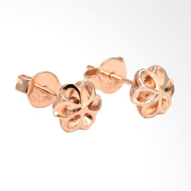 Tiaria Flower Earring Anting Emas Perhiasan - Rose Gold