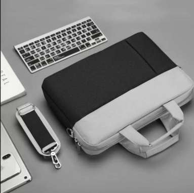 harga Tas Laptop Selempang Waterproof Two Tones 14 inch Hitam Blibli.com