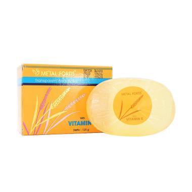 Metal Fortis Pembersih Badan XX-MF Sabun Vitamin E Bar Soap Body - Orange  [125 g]
