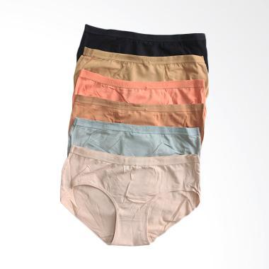 Aily 2809 Set Celana Dalam Wanita - Multicolor [6 Pcs]