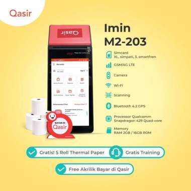 harga Printer Thermal Bluetooth Portable iMin M2 203 2GB RAM + 16GB ROM Android POS Mesin Kasir Blibli.com