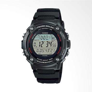 Casio Standard W-S200H-1BVDF Solar Powered Jam Tangan Wanita - Black