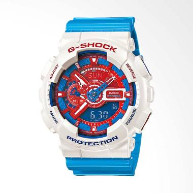 Best Price - CASIO G-Shock Jam Tangan Pria - Blue White GA-110AC-7ADR