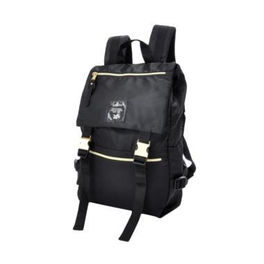 Anello Nylon Gold Buckle Backpack AT-B1493 Tas Ransel - Black