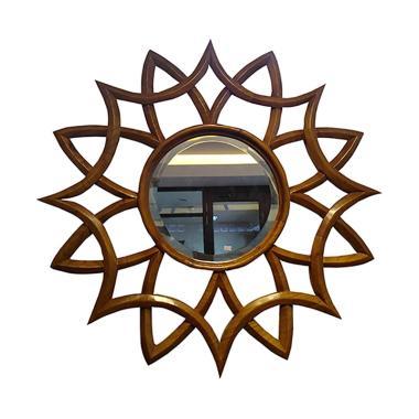 Hermosa Home Decor Flower Sun Cermin Hias Dinding