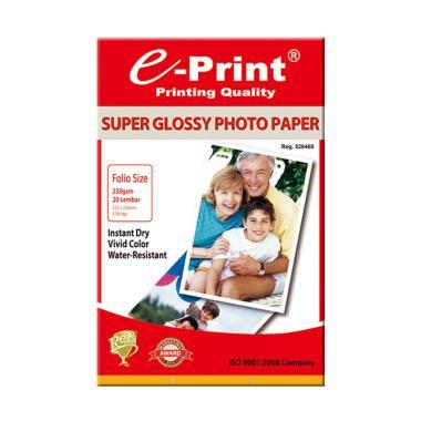 E-Print Super Glossy Folio Photo Pa ... g 3Pcs [230 gsm/60 Sheet]