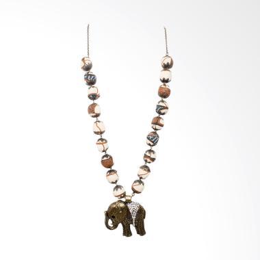Shvana Kalung Batik Rex Elephant Coklat