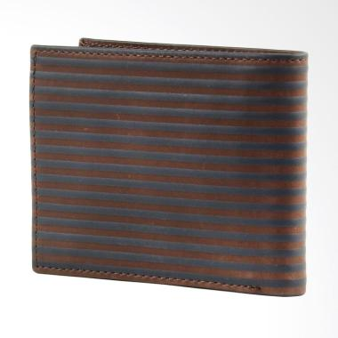Fossil Avery Bifold Wallet Dompet Pria - Dark Brown ML 3750400