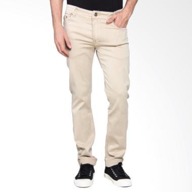 Bronco Slim Fit Chinos Celana Panjang Pria - Khaki 4183
