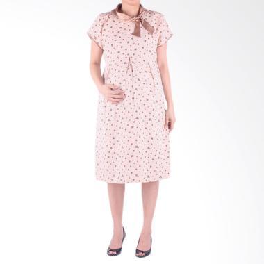 Hmill D1342 Dress Baju Hamil - Coklat